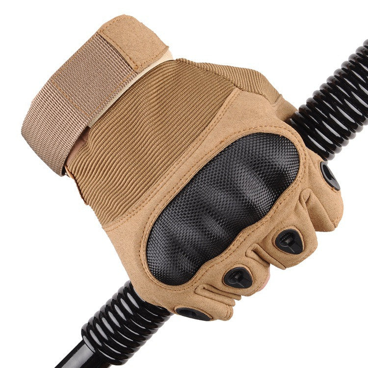 Tactical Military Half Finger Gloves - Outdoor Panther