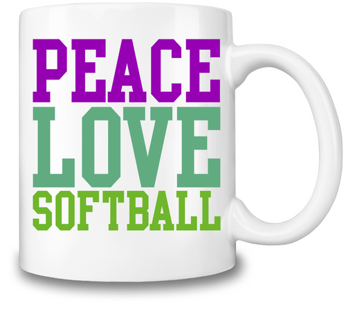 Peace Love And Softball Coffee Mug - Outdoor Panther
