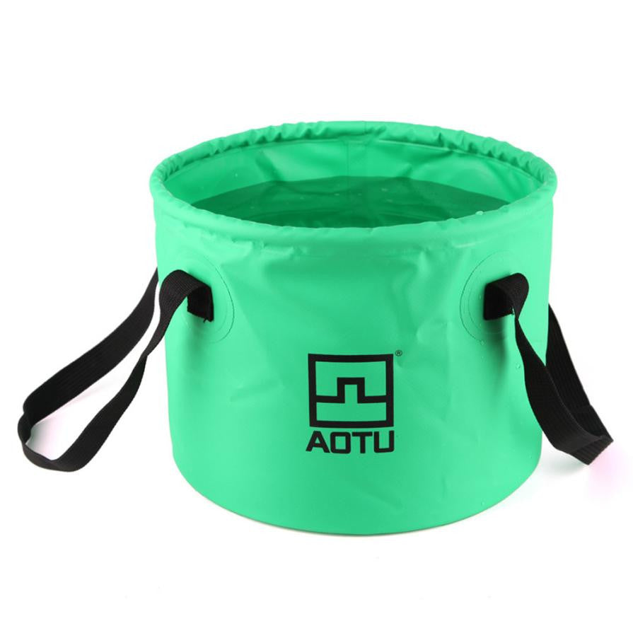 Camping Bucket Outdoor Folding Buckets Washing Basin Portable Bucket - Outdoor Panther