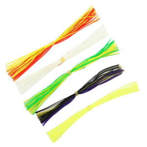10PC Lead Head Hook Bionic Plants Fluff Soft fishing Lure#W21 - Outdoor Panther