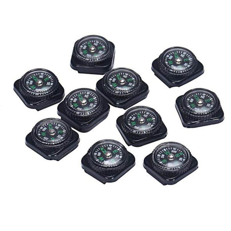 Cost-effective 10PCS Mini Compass For Paracord Bracelet - Outdoor Panther