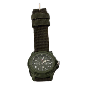 Solider Military Army Dial Army Sport Style  Quartz Wrist Watch - Outdoor Panther