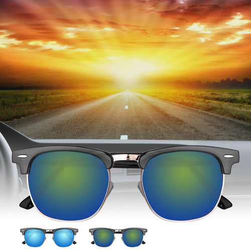 Fashionable UV400 Half Frame Sunglasses Metal Frame - Outdoor Panther