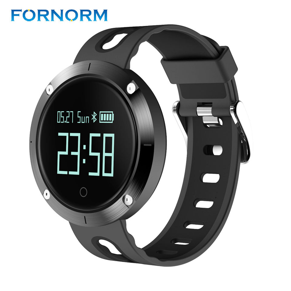 FORNORM Bluetooth 4.0 Smart Bracelet Waterproof Sport Fitness Tracker Pedometer for Android iOS - Outdoor Panther