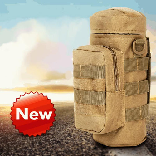 Outdoors Molle Water Bottle Pouch Militray Tactical Gear Kettle Waist Shoulder Bag for Army Fans Climbing Camping Hiking Bags - Outdoor Panther
