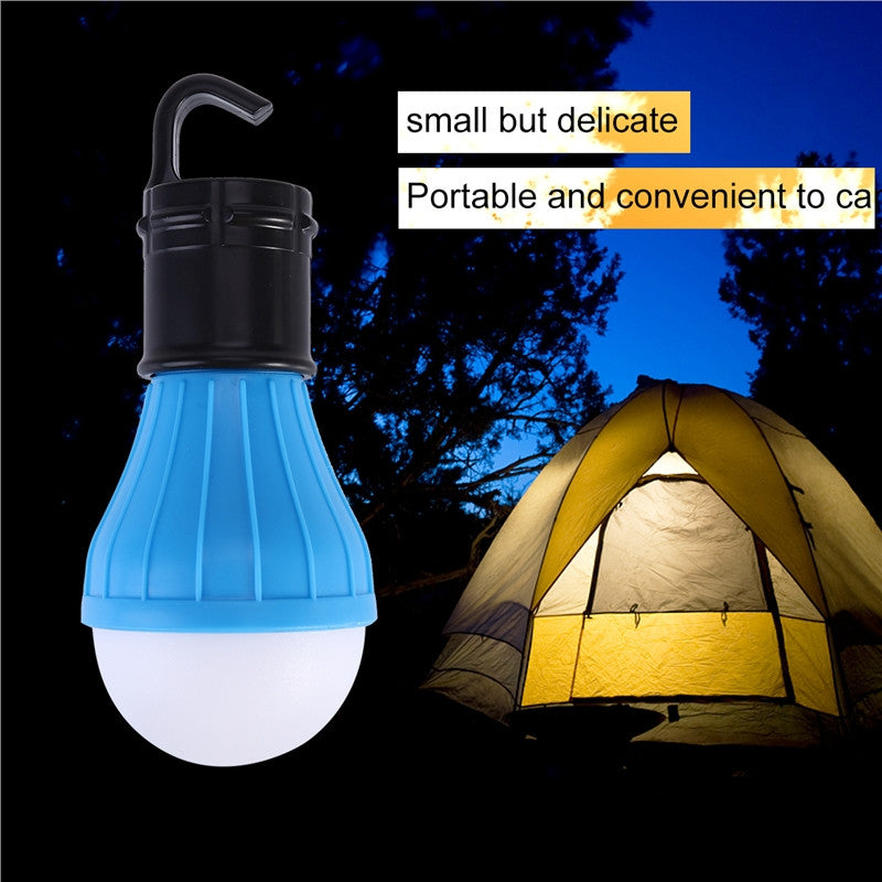 Portable 3 LED Lantern Tent Light Bulb for Camping Hiking Fishing Emergency Battery Powered Light - Outdoor Panther