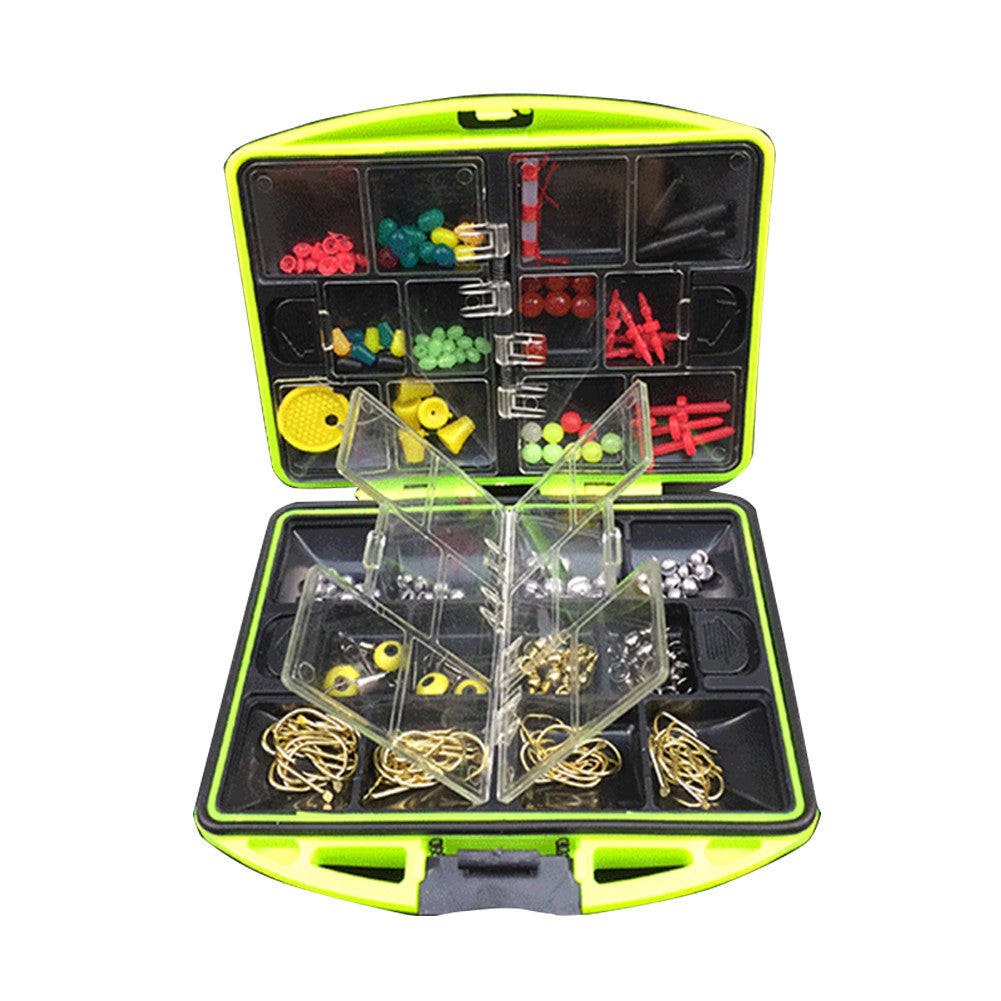 Rock 135 Accessories 100Pcs 24 Kinds 135 Tackle Kit Box Multifunctional 135 Hook Gear with Tackle Box - Outdoor Panther