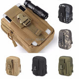 For Tactical Holster Military Molle Hip Waist Belt Bag Wallet Pouch Purse Phone Case Z07 Drop ship - Outdoor Panther