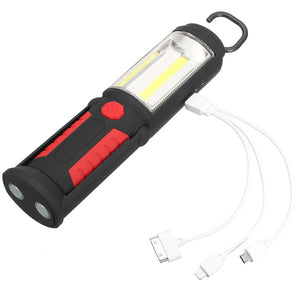 1Pcs Outdoor Emergency LED Light Flashlight  Inspection Light Magnetic Lamp for Car Repair Multifunction COB Lamp - Outdoor Panther