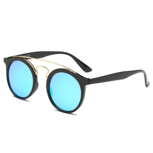 Classic Mens Womens Double Metal Bridge Round Sunglasses SJ2024 - Outdoor Panther