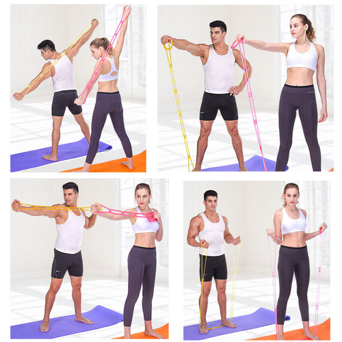 Silicone Yoga Resistance Band Pull Rope Fitness Elastic Rope Training Equipment Resistance - Outdoor Panther