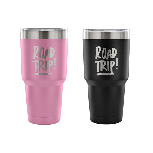 Road Trip 30 oz Tumbler- Travel Cup, Coffee Mug - Outdoor Panther