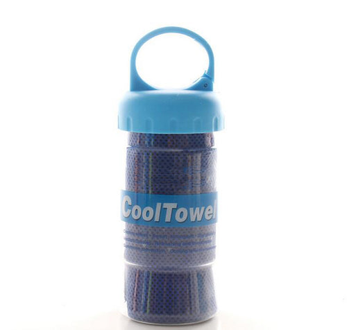 Two-tone Cooling Towel Reduces Body Temperature and Helps Beat The Summer Heat - Outdoor Panther