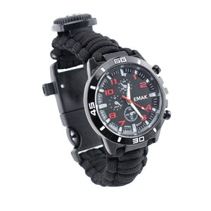 16 in 1 Multifunctional Paracord Watch Bracelet Waterproof Military Tactical - Outdoor Panther