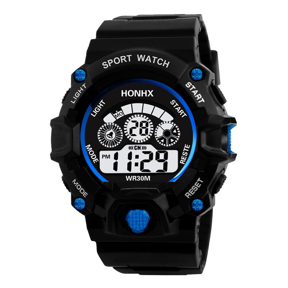 Luxury Men Analog Digital Military Army Sport LED Waterproof Wrist Watch - Outdoor Panther