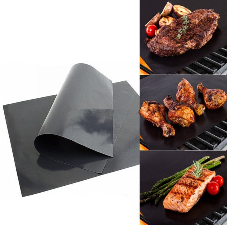 PTFE Non-stick BBQ Grill Mat Barbecue Baking Liners Reusable Teflon Cooking Sheets 33x40cm Cooking Tool - Outdoor Panther