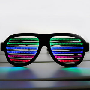 New! USB Sound Reactive Rechargeable LED Glasses for Party,Night Club,Barware,Concert,Sound control novelty,Holiday decoration - Outdoor Panther