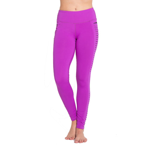 High Performance Leggings With Cutout Side Panels - Outdoor Panther