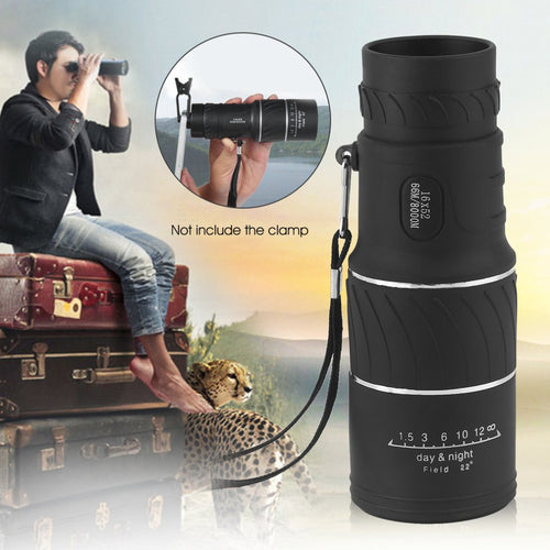 16x52 High Definition Compact Monocular Zoom Telescope Scope Coating Optic Lenses For Hunting Camping Surveillance - Outdoor Panther
