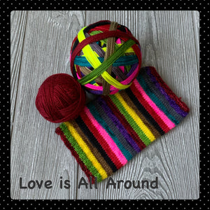 Love is All Around - self striping