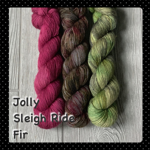 Jolly/Sleigh Ride/Fir- Shawl Set