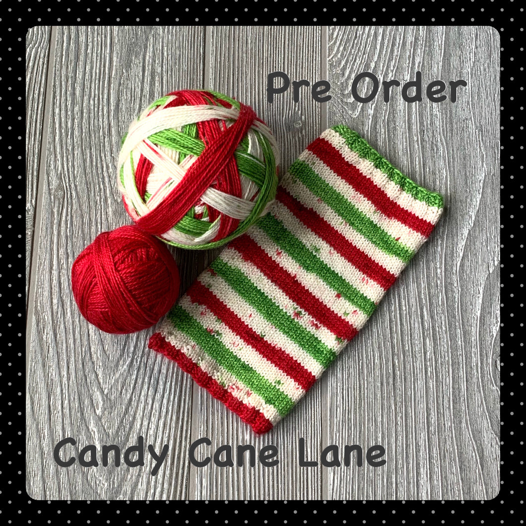 Candy Cane Lane - self striping PRE ORDER