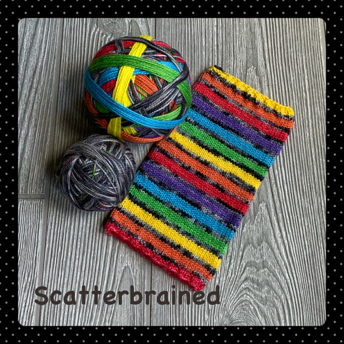 Scatterbrained- self striping PRE ORDER