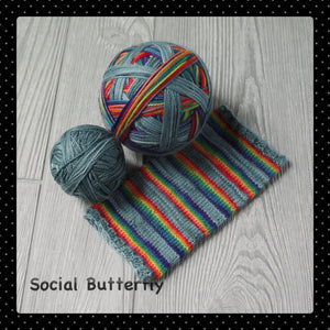 Social Butterfly - self striping  PRE ORDER