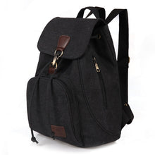 Load image into Gallery viewer, Women canvas backpack preppy style
