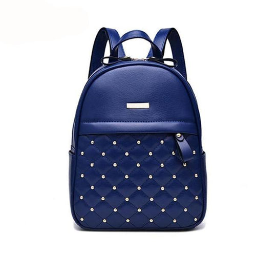 Women Backpack Hot Sale Fashion Causal bags High Quality bead female shoulder bag PU Leather Backpacks