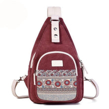 Load image into Gallery viewer, Canvas Shoulder Bag Retro Style Daily Travel Small Backpacks Bag Female Casual