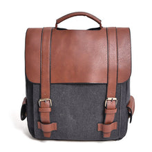 Load image into Gallery viewer, Vintage Women Canvas Backpacks School Bags Large High Quality Patchwork Backpack