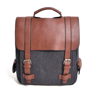 Vintage Women Canvas Backpacks School Bags Large High Quality Patchwork Backpack