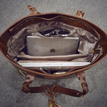 Load image into Gallery viewer, Large Capacity Leather Bag