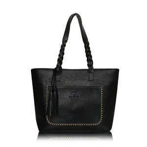 Large Capacity Leather Bag