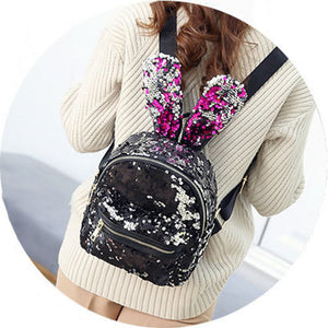 Cute Rabbit Ears Double Shoulder Bag Mini Backpacks