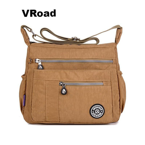 Fashion casual waterproof nylon shoulder messenger bag