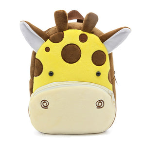 Cartoon Kids Plush Backpacks Mini Kindergarten schoolbag Plush Animal