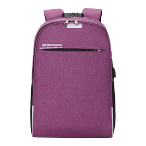 USB Charging Backpack 15.6inch Laptop
