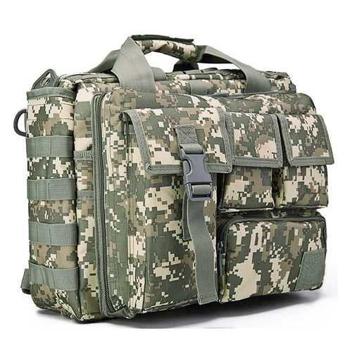 Men's Tactics Backpack Travel Shoulder Bags Camouflage Rucksack 15.6 inches Laptop Camera Military Bag