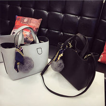 Load image into Gallery viewer, Leather Women Handbag Two Pieces