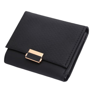 Luxury Wallet Female Leather Purse Plaid Wallet Card Holder
