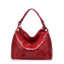 Load image into Gallery viewer, Genuine leather bag women fashion serpentine prints leather