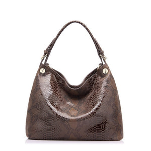 Genuine leather bag women fashion serpentine prints leather