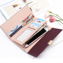 Load image into Gallery viewer, Woman Wallet Clutch Plaid Wallet Zipper Women Luxury Credit Phone Card Holder Coin Purses