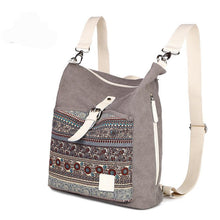 Load image into Gallery viewer, Top quality women canvas backpack  dual purpose shoulder bag daily travel backpacks cross body bags