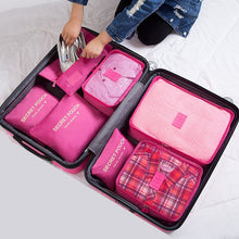Load image into Gallery viewer, 7Pcs/set Trip Luggage Organizer Clothes Finishing Kit Storage Bag Cosmetic