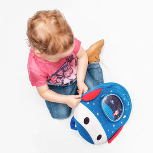 Toddler Kids Backpack 3D Rocket Space Cartoon