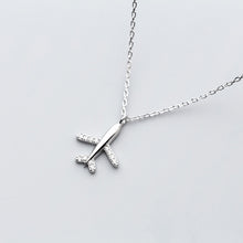 Load image into Gallery viewer, 925 Sterling Silver Necklace Jewelry Travel Plane Short Necklace