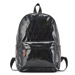 Laser Luminous Holographic Leather Backpack